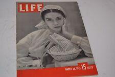 Vintage March 28, 1948 Life Magazine - Basket Handbags on Cover