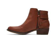 ROXY Ramos Womens UK 3 EU 36 US 6 Brown Leather Zip Up Ankle Boots WITH FREE P&P