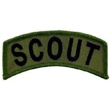 "NORTHERN SAFARI™  Army Scout Tab, Subdued, Iron On Patch-Approx. 1.50""H x4.00""W"