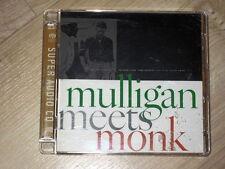 SACD Hybrid Mulligan Meets Monk ultra rare Super Audio CD GOLD