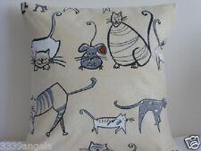 """16 """"NUOVO CUSCINO Funky GATTI GATTINI Mice Mouse francese fattoria beige"""