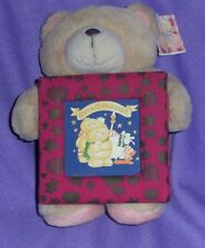 SMALL 'HALLMARK'  FOREVER FRIENDS  TEDDY WITH PHOTO FRAME, WITH TAG (#B71-2)