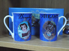 Disney Beauty & The Beast Mug DI374 Set of 2 Mugs Belle and Beast Gift Box