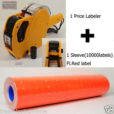 8Digits PRICE GUN LABELER MX-5500 + 10000 Labels (Red) +Free Ink