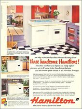 1950s vintage appliance Ad HAMILTON Laundry Washers and Dryers 3 models 093017