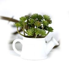 Meiliy Green Artificial Succulent Plant Mini Faux Potted Plants Home Hotel Decro