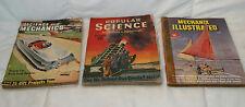 LOT OF 3 VINTAGE 1940'S MAGAZINES POPULAR SCIENCE & MECHANIX ILLUSTRATED