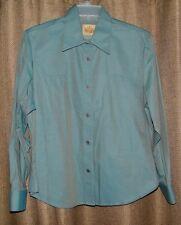 Women's Stubbs Collection Western Cowboy Wear Size M Long Sleeve Shirt Green