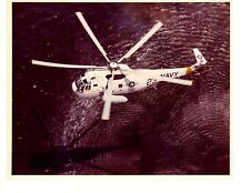 Sikorsky SH3R Sea King VX1 Navy Helicopter Official Photograph 8x10 Color 1985
