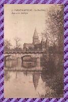 CPA 71 - PARAY LE MONIAL la bourbince pont et la basilique