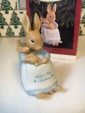 Beatrix Potter Peter Rabbit Babys First Christmas Hallmark Keepsake Ornament NIB