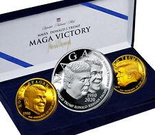 Trump Reagan MAGA Coin Gift Box Set
