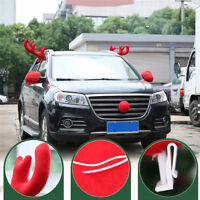 Christmas Reindeer Antlers Red Nose Car Vehicle Festive Costume Decoration