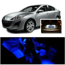 For Mazda 3 2010-2013 Blue LED Interior Kit + Xenon White License Light LED