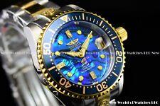Invicta 38mm GRAND DIVER DIAMOND ACCENT Two Tone Blue Abalone Automatic Watch