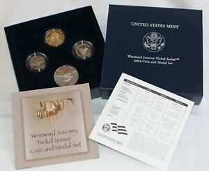 2004 Westward Journey Nickel Series Proof Coins & Medal Set In Box With COA