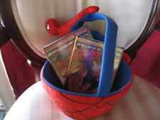 Marvel Comics Spider Man 1 & Spider Man 2 DVD Set & Easter Basket