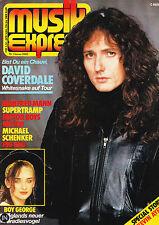 Magazin Musik Express 1/1983,David Coverdale,Manfred Mann,Supertramp,Boy George