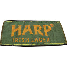 Official Harp Irish Lager Beer Towel- Green - Home Bar - Glassware Drying Spill