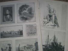 Centenary of the Birth of Lord Byron 1888 old prints