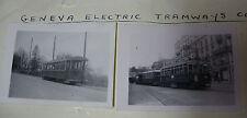Suis007 - 2 x GENEVA TRAMWAYS Company No 61 & 370 Tram PHOTO ~ Switzerland SWISS