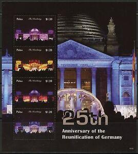 PALAU 2015 125th ANNIVERSARY GERMAN RE-UNIFICATION  SHEET MINT NH