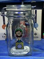 Luigi Glass Latch Top Jar Apothecary Prescription Weed Smell Proof