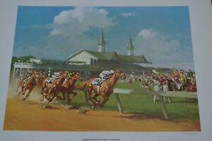 """THE KENTUCKY DERBY"" A 1963 LITHOGRAPH PRINT BY HADDONN SUNDBLOM!!! MUST SEE!!!"