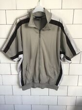 Mens Urban Vintage Retro Rare Old Adidas Short Sleeve Sweater Top Jacket Large