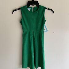 Girls NWT Monday's Child green corduroy long tie back sleeveless dress size 8