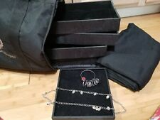 PREMIER DESIGN TRAVEL JEWELRY CASE DISPLAY TRAYS TABLECLOTH RING& NECKLACE SIZER