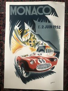 Affiche Grand Prix De Monaco 1952