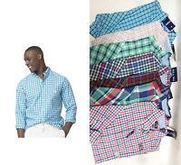 Chaps men BT Easy Care poplin plaid shirt LT XLT 2XLT 3XLT 2XB 3XB 4XB NEW