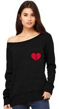 Broken Heart Singles / Valentine's Day Pocket Off shoulder sweatshirt Symbol