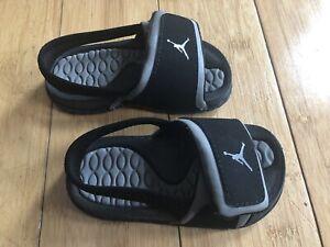 Nike Air Jordan Baby Boys Black Sandals  ~ Size 6
