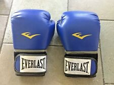 Everlast Pro Style Training Gloves Blue Boxing Mma Martial Arts 12 oz