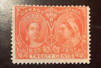 CANADA JUBILEE SC#59 20c F/VF QV Stamp  MINT H OG