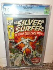 Marvel Comics Silver Surfer CGC 7.0 18 1970 fantastic four White pages last