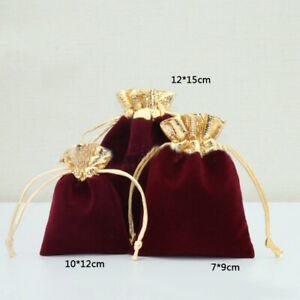 Jewelry Bags Pouches Mini Velvet Drawstring Wedding Party Favor Bag Gifts Colors