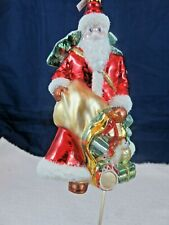 Mercury Glass Art Glass Christmas Ornament Made in Poland Exquisite Nwob
