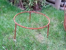 d=30cm Rost Ständer für Feuerschale Pflanzschale,Gartendeko Metall Gartendeko