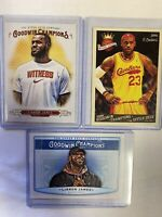 2018-19 Upper Deck Goodwin Champions Lebron James Lot (3) Lakers 2009-10 UD