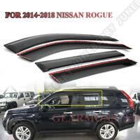 FOR 2014-2018 NISSAN ROGUE Window Visor Vent Wind Sun Shade Rain Guard Deflector