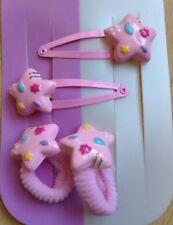 Un Pacchetto Di 2 Pink Stelle Capelli Ponio Pompon E 2 In Abbinato Fermagli