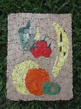 Vintage Glass Mosaic Original Mid Centry Modern Food Fruit Vegetable Still Life