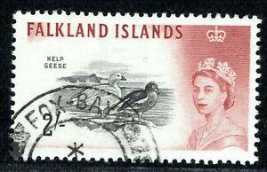 FALKLAND ISLANDS QEII 2s Stamp GEESE *Fox Bay* Postmark Used{samwells}BBLUE77