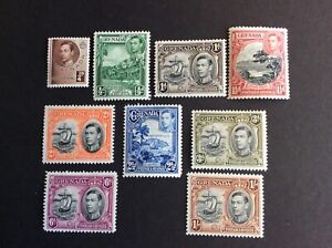 Grenada 1938/50 KGVI Definitives Short Hinged Mint Set