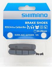 Genuine Shimano R55C4-A Brake Shoe Pad w/ Fixing Bolts for Carbon Rim 24-28mm