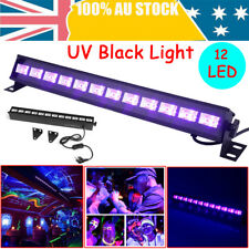 UV Bar 12 X 3w LED Batten UltraViolet Black Light DJ Disco Club Party High Power