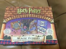 Harry Potter Magic Puzzle Used Incomplete 3 two-sided puzzles & Magic cards